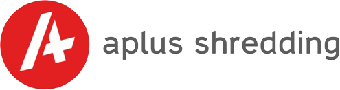 A Plus Shredding horizontal logo